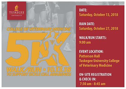 5K event on Oct. 13 to 'Stride for a Cure' for sickle cell anemia