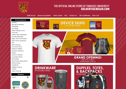 Tuskegee, Follett partner to launch new goldentigergear.com online store