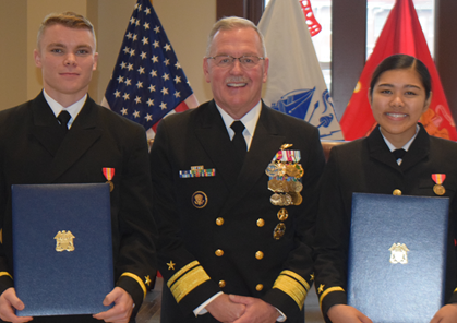 Two from Naval ROTC programs commissioned during Dec. 13 ceremony