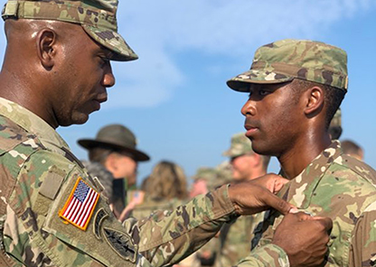 Tuskegee Army ROTC cadet distinguishes himself by earning Airborne Jump Wings