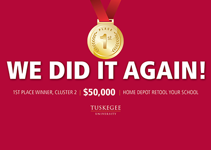 Tuskegee University captures $50,000 prize in Home Depot 'Retool Your School' competition