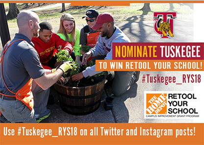 Tuskegee launches bid for Home Depot 'Retool Your School' grant