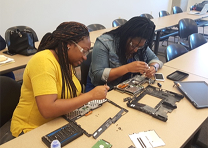 Summer research program for teachers focuses on research training in sustainable electronics