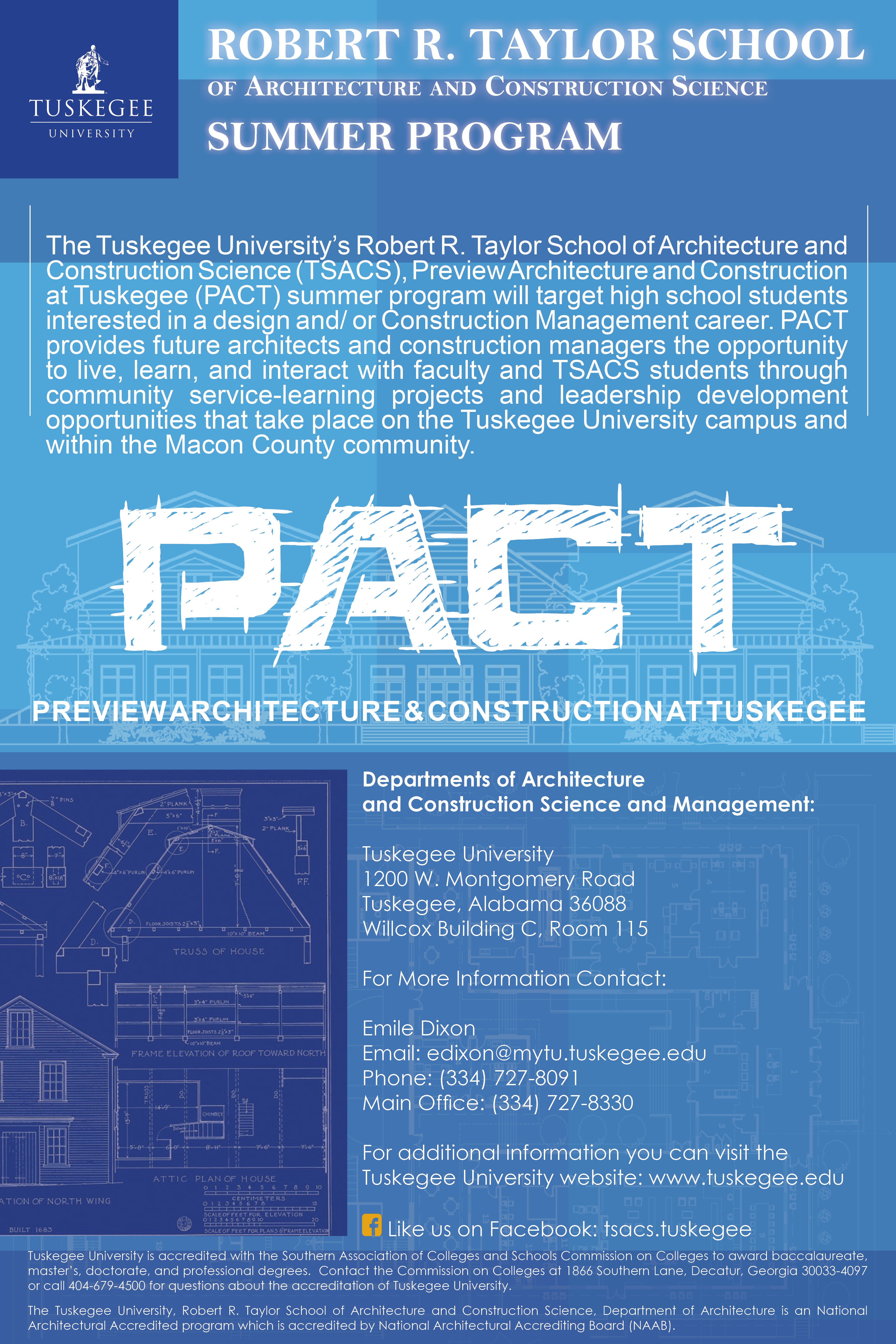 poster showing various activities with PACT summer program participants