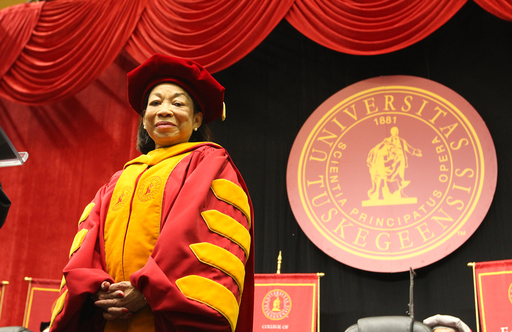 President McNair in academic regalia