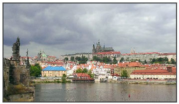 Prague - picture of city beside a body of water