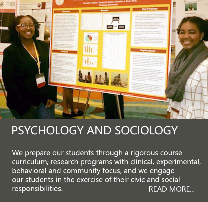 Psychology students presenting poster
