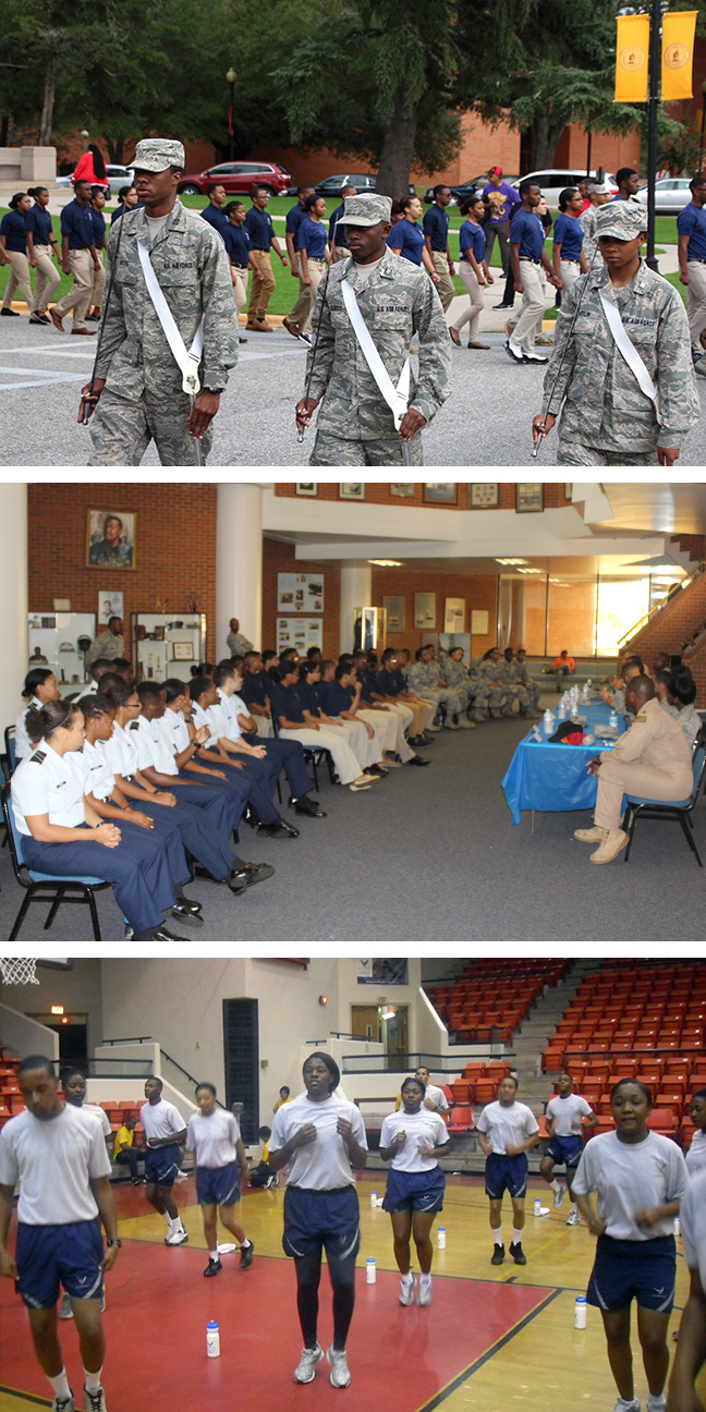 Air Force ROTC cadets in action