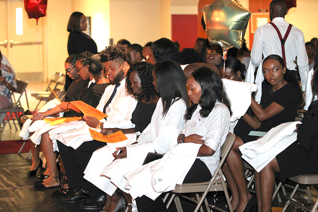 Nursing and Allied Health students at White Coat Ceremony.