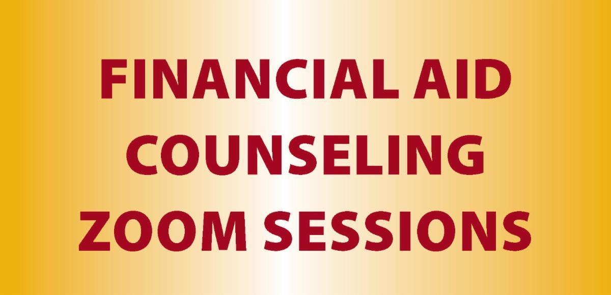 Financial Aid Zoom sessions