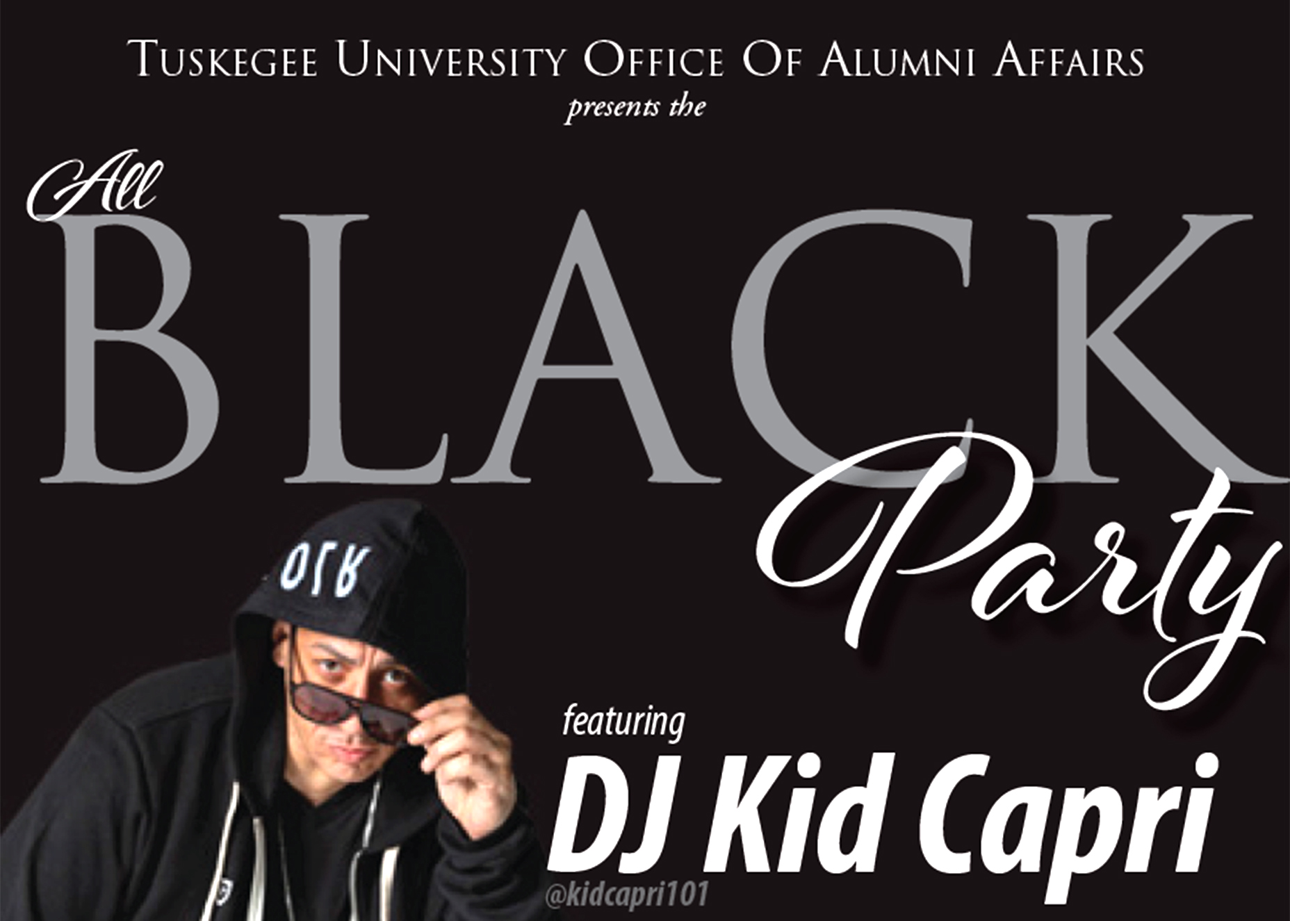 Flyer showing DJ Kid Capri and ticket prices