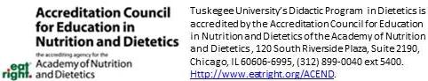 Undergraduate Dietetics | Tuskegee University