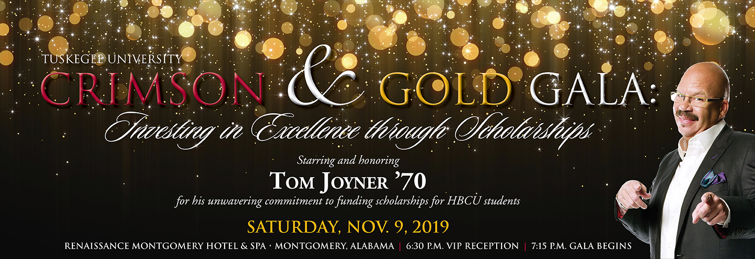 Advertisement image: Crimson and Gold Gala featuring and honoring Tom Joyner