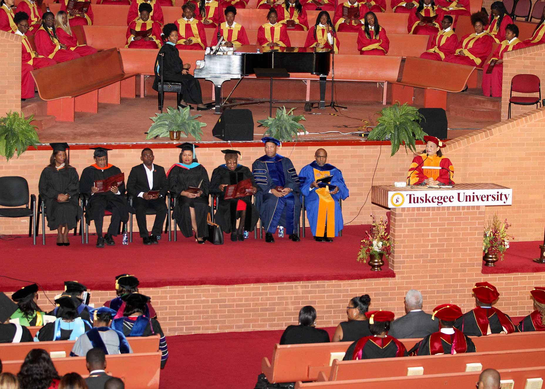 Convocation inside the TU Chapel