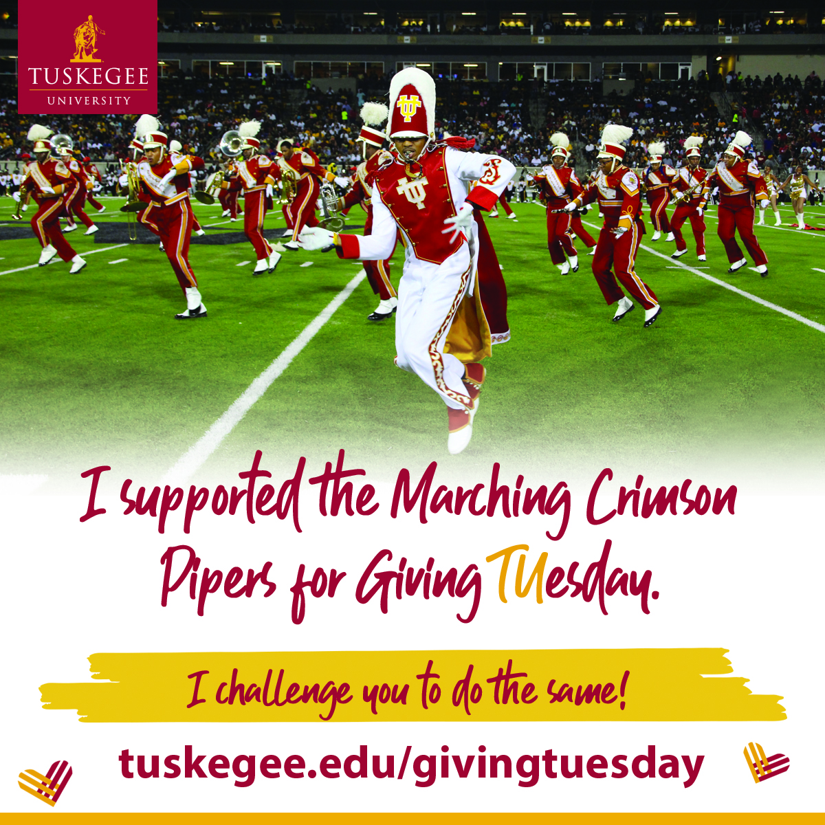 Giving Tuesday, band support graphic