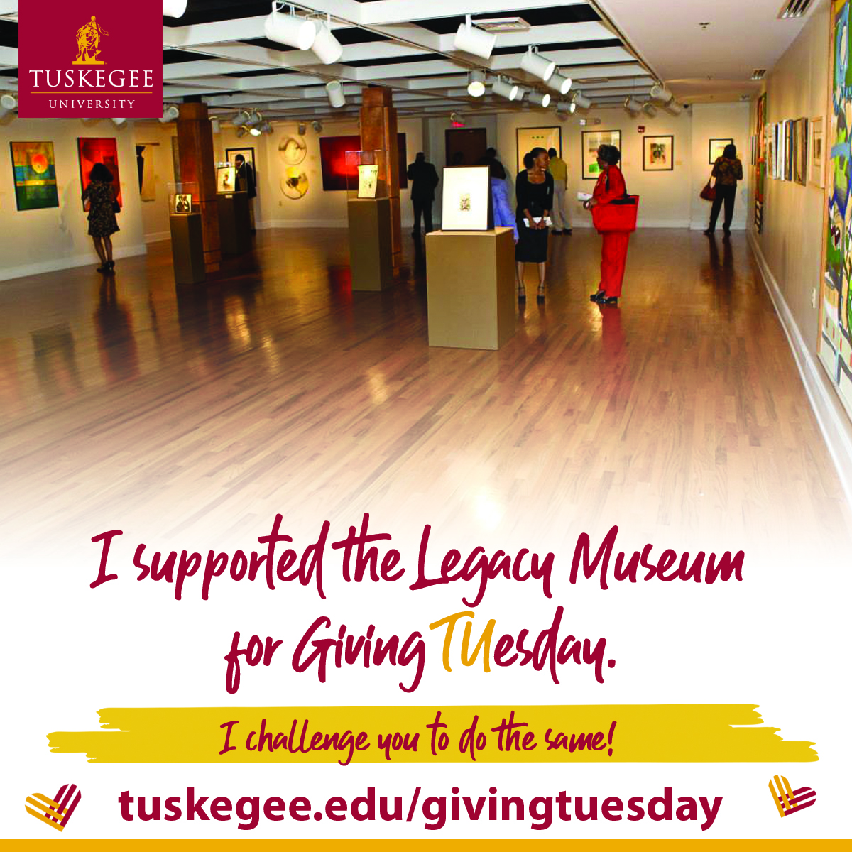 Giving Tuesday, Legacy Museum support graphic