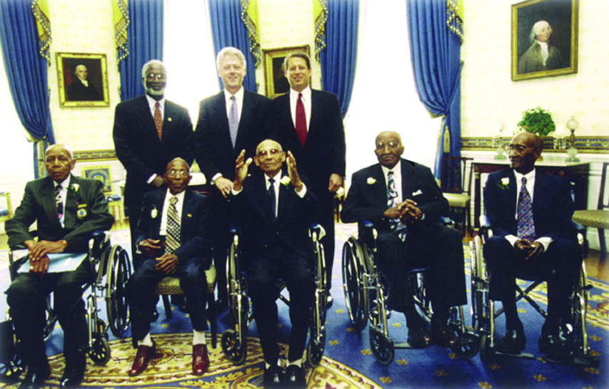 Syphilis group with President Bill Clinton