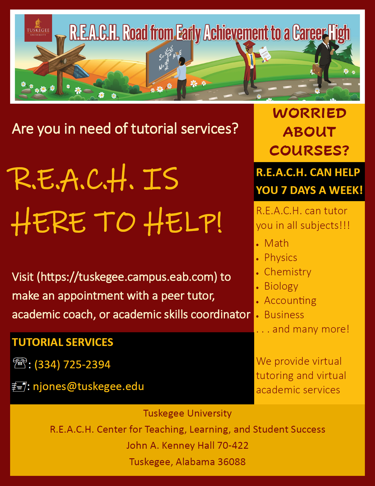 Tutorial Services flyer