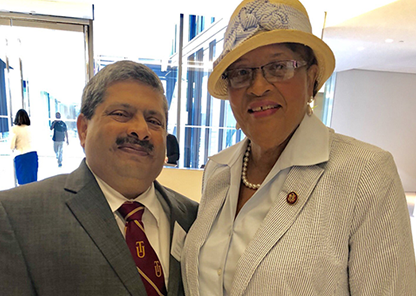 Dean Prakash with Rep. Alma Adams