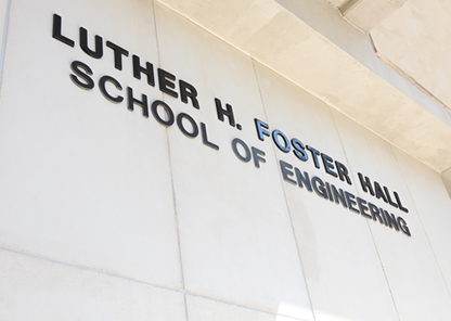 Exterior of Luther H. Foster College of Engineering