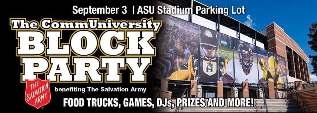 CommUniversity Block Party banner