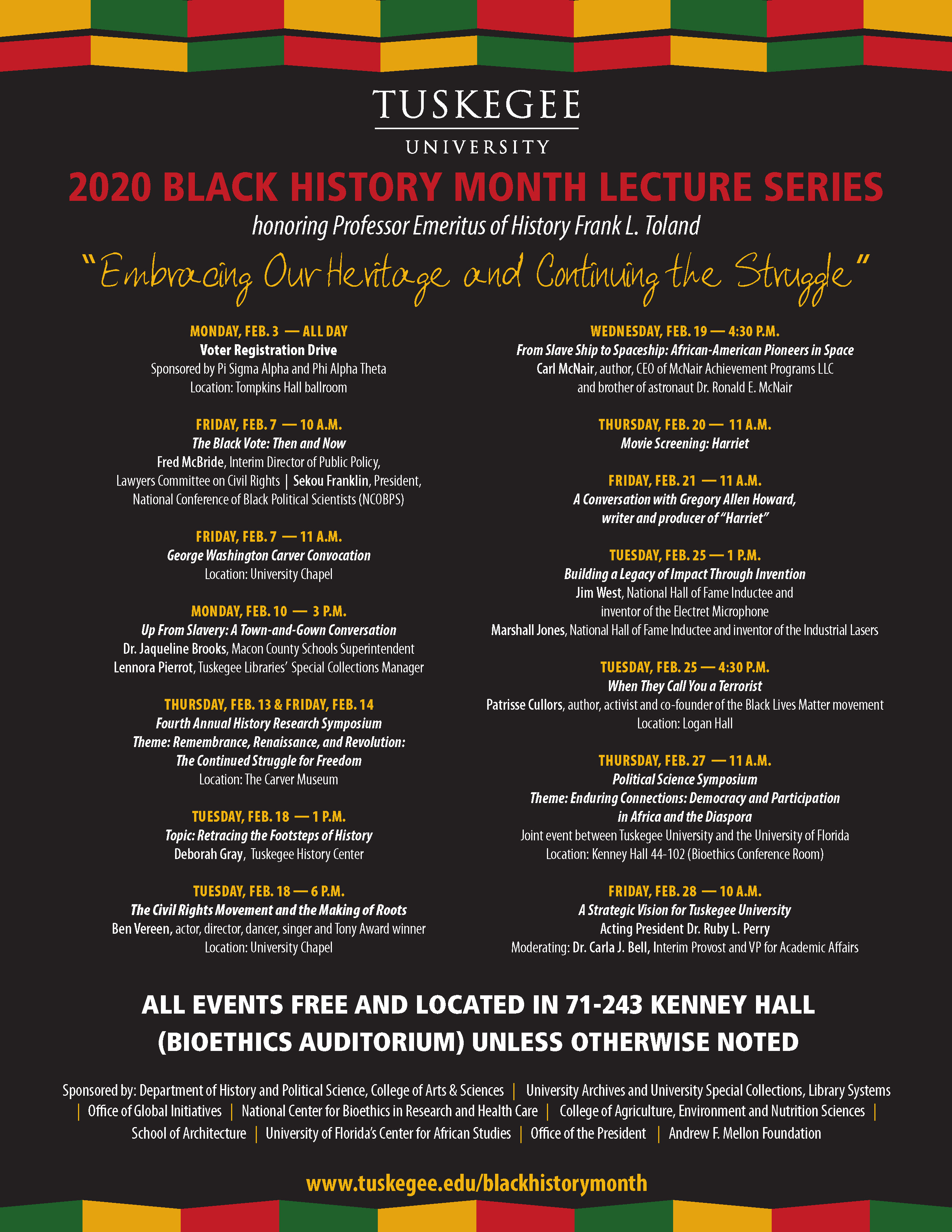 Black History Month Programs At Tuskegee University Embrace Heritage Continued Struggle Tuskegee University