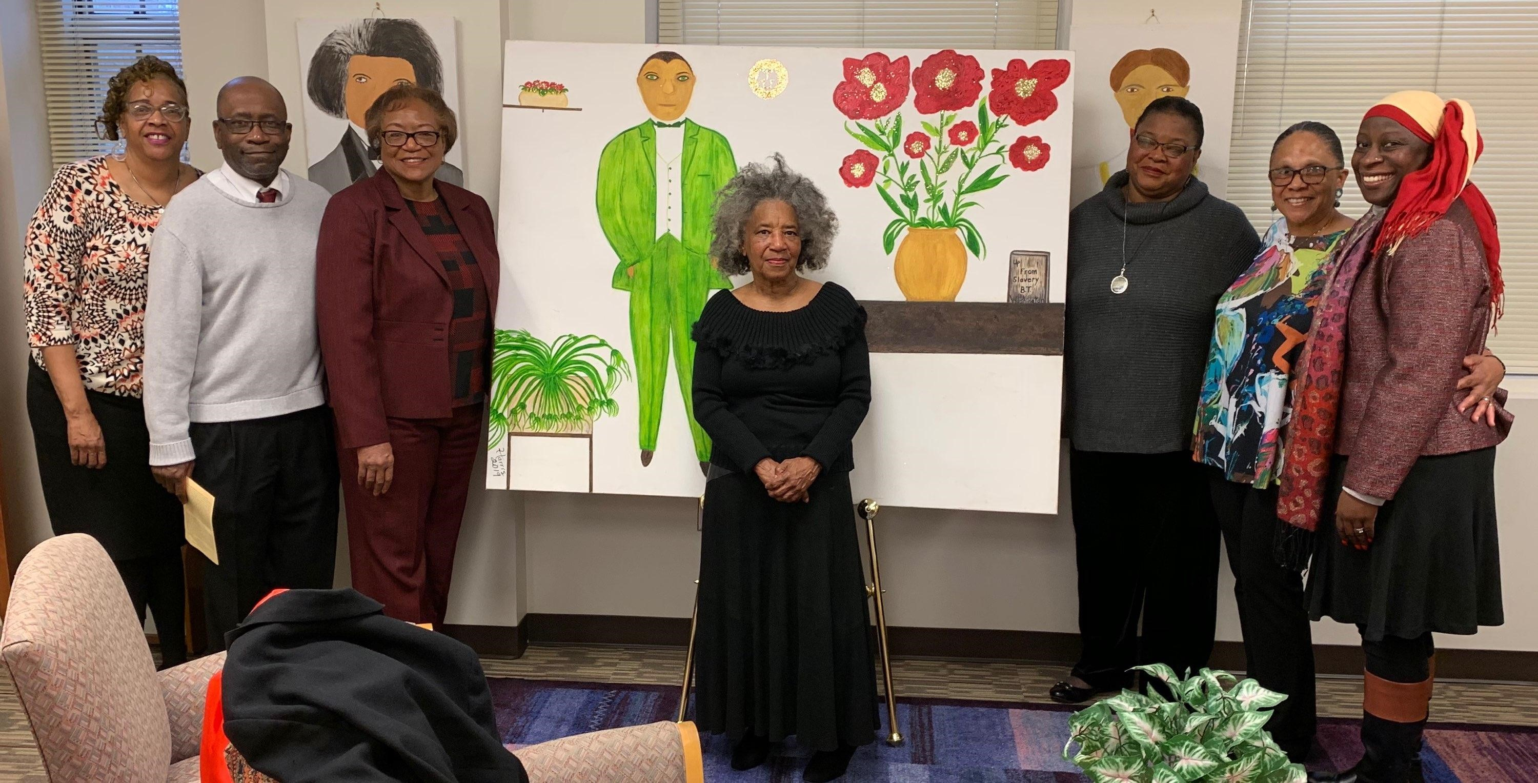 Unveiling of the art exhibit