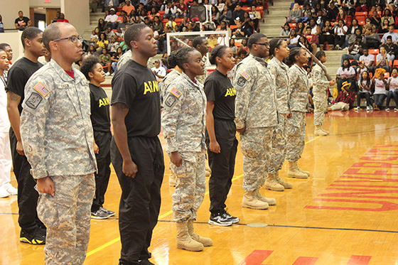 "Army ROTC in General Daniel ""Chappie"" James Arena for Open House"