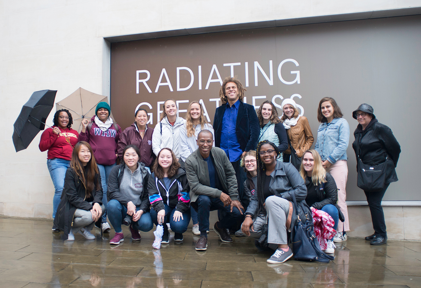 University of Redlands study abroad students and faculty outside of London's Black Cultural Archives