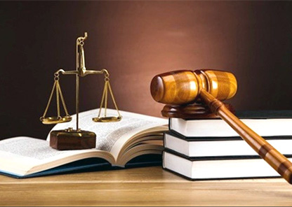 gavel, scales and books