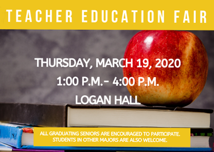 Teacher Education Fair flyer