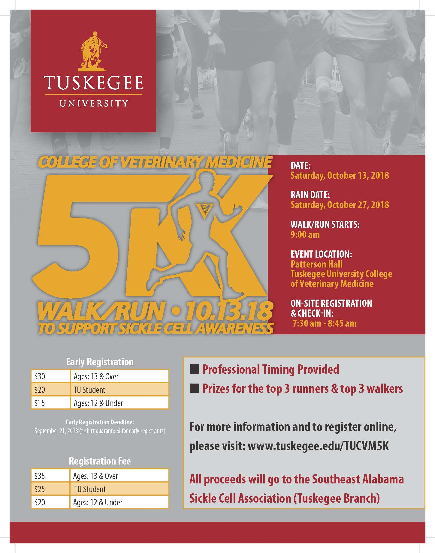 Veterinary medicine 5K event flyer
