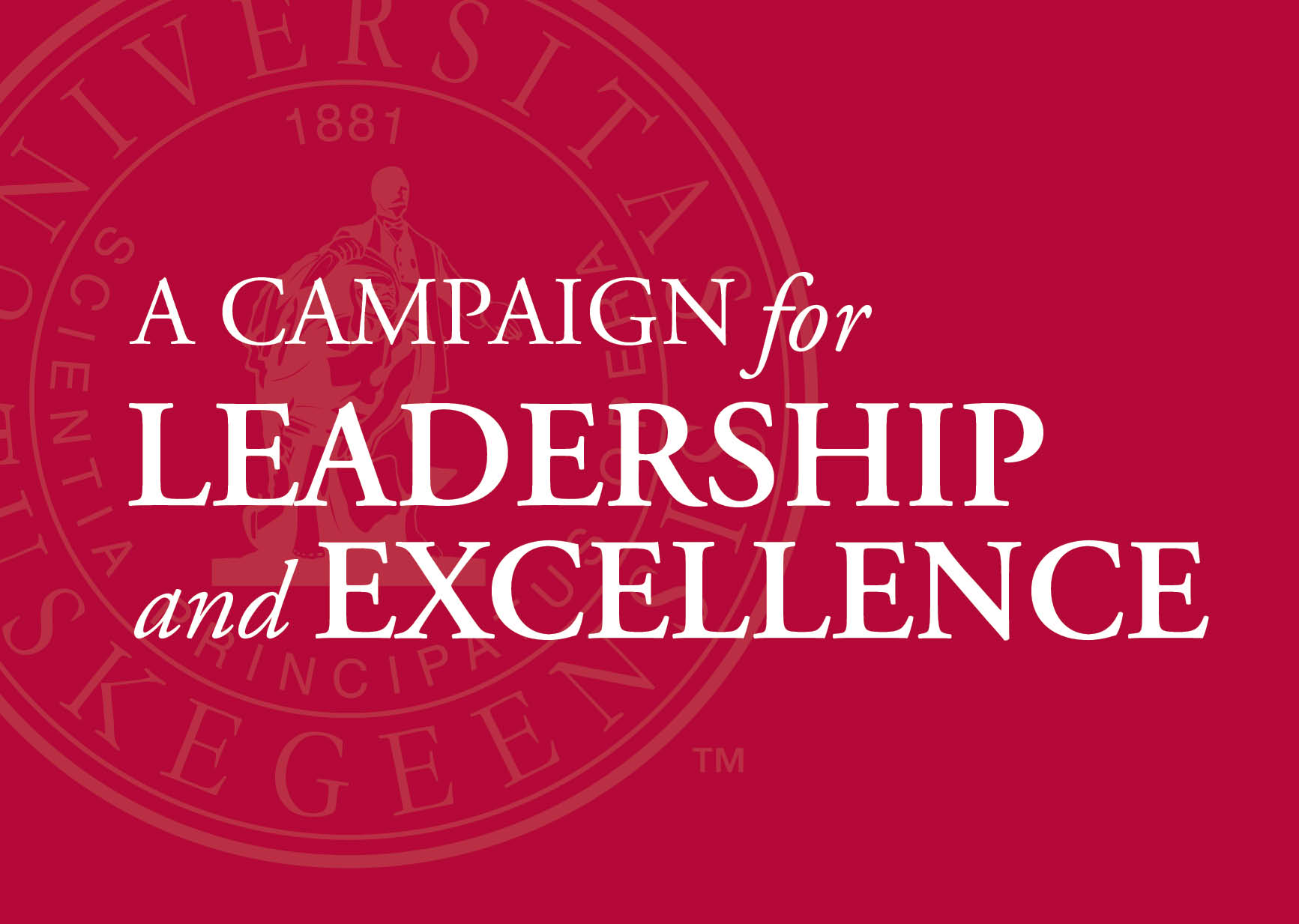 banner: campaign for leadership and excellence