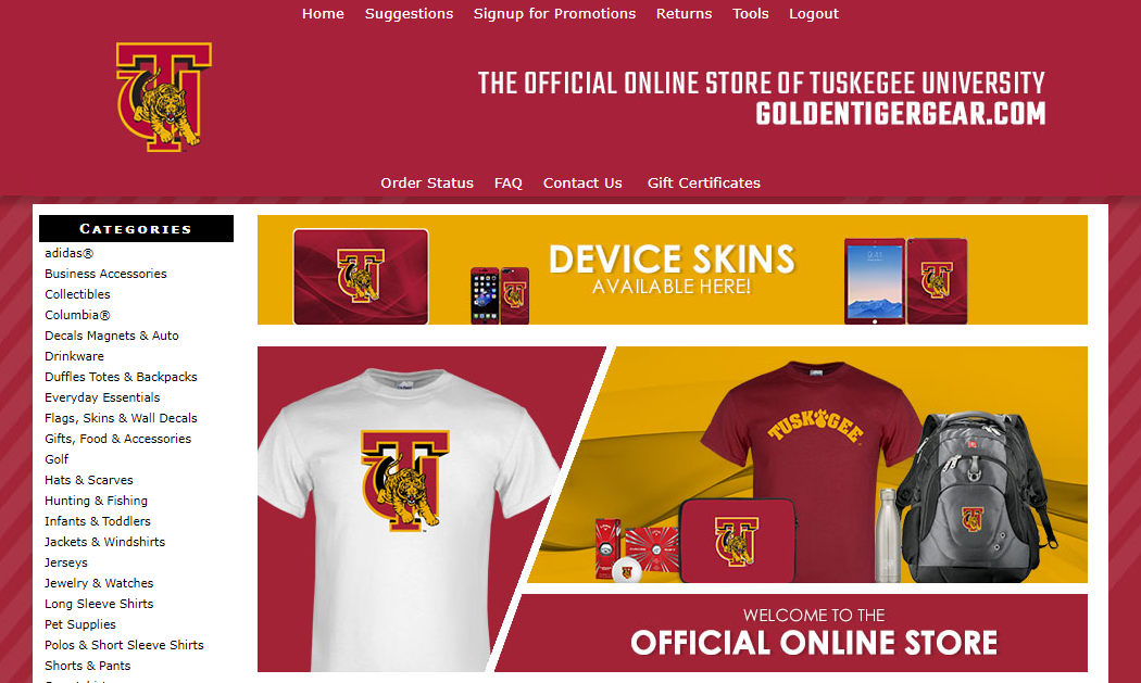 Screenshot of Follett TU gear website