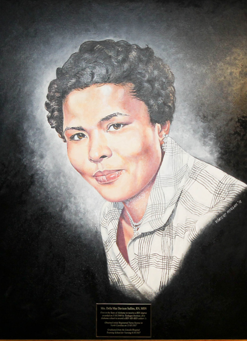 a painting of Della D. Sullins