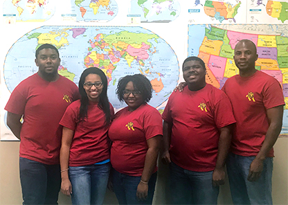 Four Tuskegee students and their coach make up the Honda Campus Allstars team