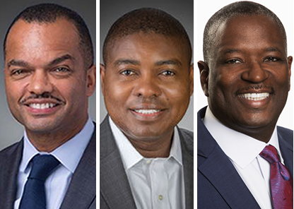 Collage of three TU alums named 2020 top black execs by Savoy magazine