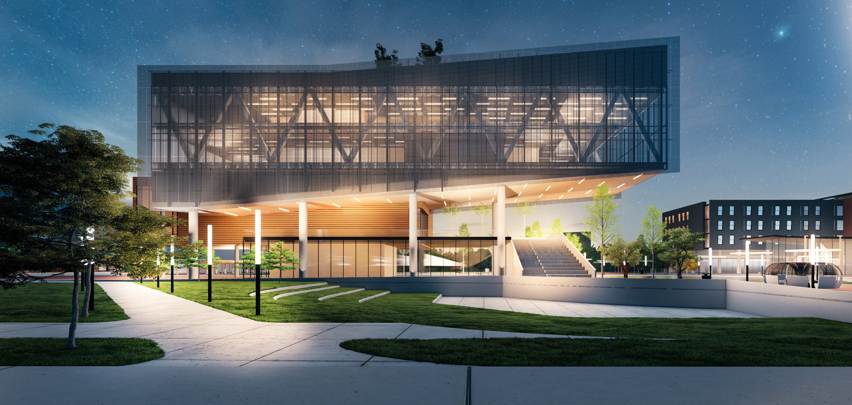 Rendering of the Propel Center, an innovation hub for the entire HBCU community that will provide curriculum, internships, and mentorship opportunities.