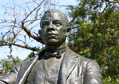 Top portion of Booker T. Washington Statue