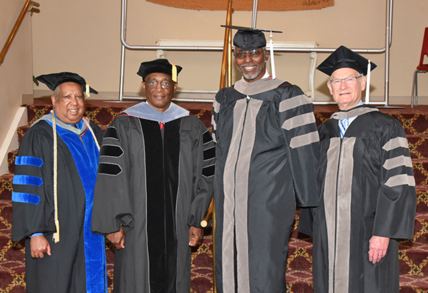 College of Veterinary Medicine Distinguished Alumni Awardees left to right, are Nelson, Powell, Davis and Cohn.