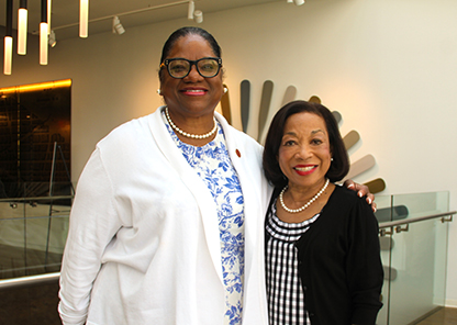 Trustee Norma Clayton and Dr. Lily McNair