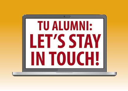 Graphic: TU Alumni: Let's Stay in Touch
