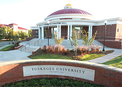Margaret Murray Washington Hall on the campus of Tuskegee University